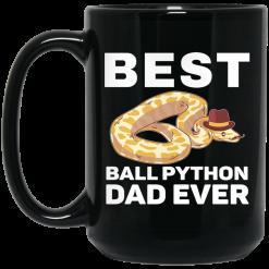 Best Ball Python Dad Beard Mustache Pet Snake Mug