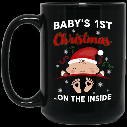 Baby's 1St Christmas On The Inside Mug