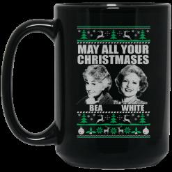 May All Your Christmases Bea White Mug