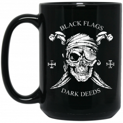 Black Flags Dark Deeds H.L. Mencken Mug