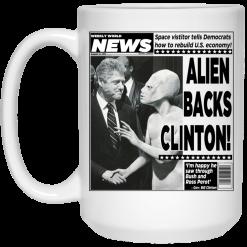 Vintage World News Alien Backs Clinton Mug