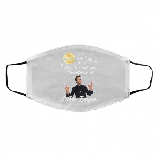 All I Want For Christmas Is Luke Bryan Face Mask