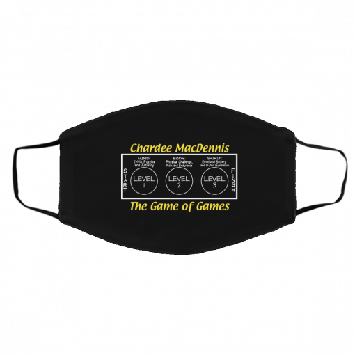 Chardee MacDennis The Game of Games Face Mask