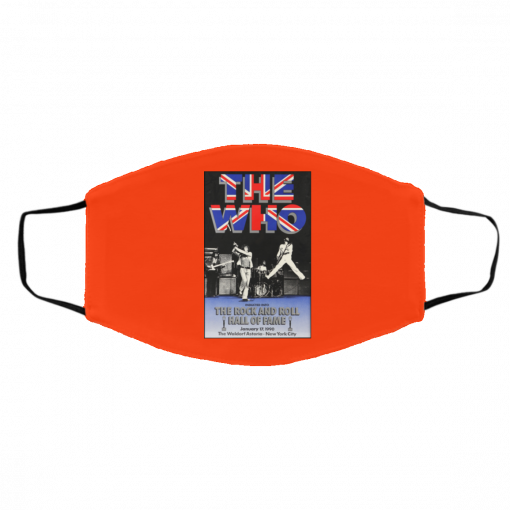The Who The Rock And Roll Hall Of Fame Face Mask