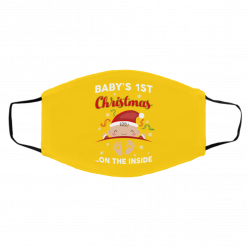 Baby's 1St Christmas On The Inside Face Mask