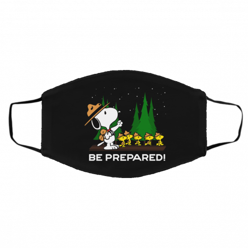 Snoopy Dog Be Prepared Face Mask