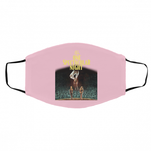 AJR's One Spectacular Night Merch Face Mask