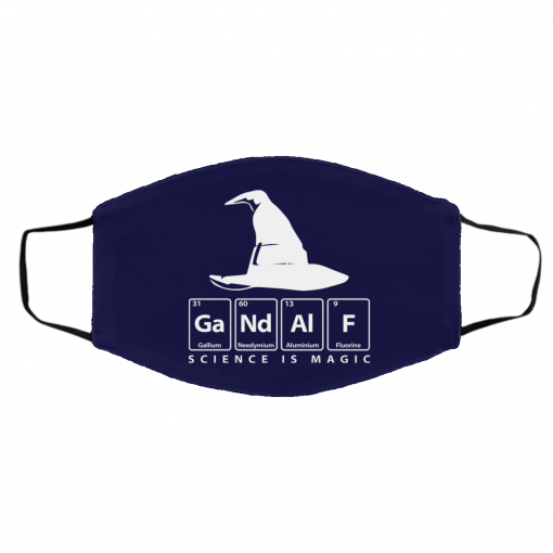 GaNdAlF – Science is Magic Face Mask