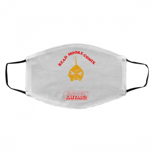 Read Moore Comix Cartoonist Kayfabe Face Mask