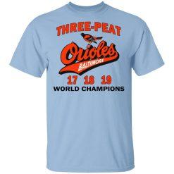 Three Peat Orioles Baltimore World Champions T-Shirts, Hoodies, Long Sleeve