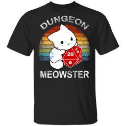 Dungeon Meowster Retro Vintage Funny Cat T-Shirts, Hoodies, Long Sleeve