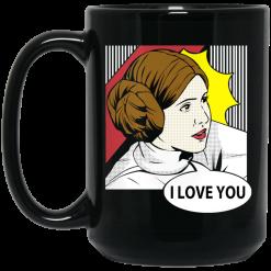 Star Wars Princess Leia I Love You Pop Art Mug