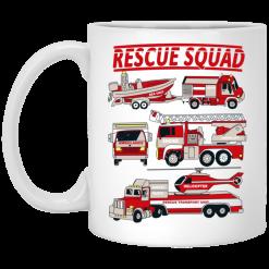 Fire Truck Rescue Squad Mug
