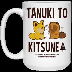 Tanuki To Kitsune Mug