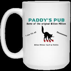 Paddy's Pub Home Of The Original Kitten Mitten Mug