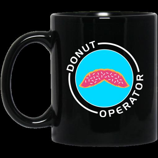 Donut Operator Sprinkles Mustache Mug