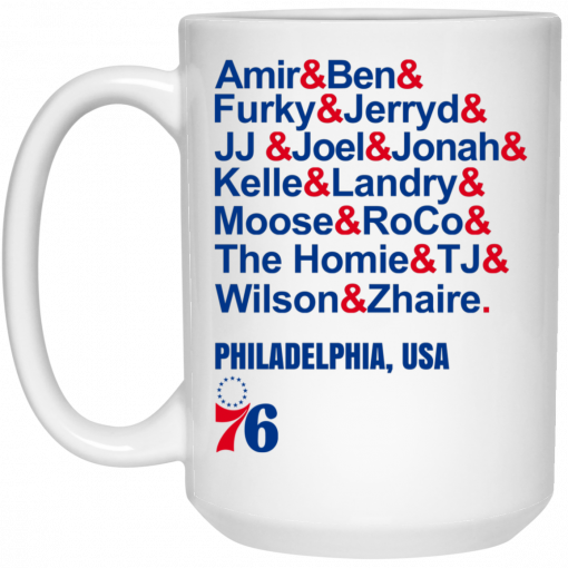 Amir & Ben & Furky & Jerryd Philadelphia USA 76 Mug