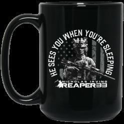 Nick Irving Reaper 33 He Sees You While You're Sleeping Mug