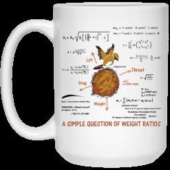 A Simple Question Of Weight Ratios Funny Math Teacher Mug