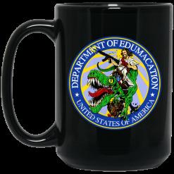 Department Of Edumacation United States Of America T-Rex Jesus Mug