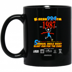 K·SESH 99.4FM 1987 5th Annual Uncle Ricky Lunt Run For The Cure Mug