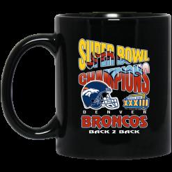 Super Bowl Champions Denver Broncos Back 2 Back Mug