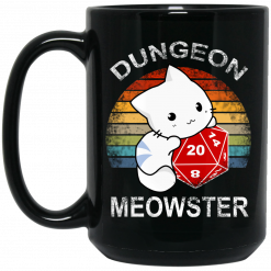 Dungeon Meowster Retro Vintage Funny Cat Mug