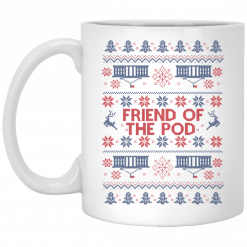 Friend Of The Pod Holiday Sweater Mug
