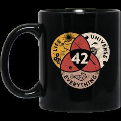 Science 42 Angel Number Life Universe Everything Number 42 Mug