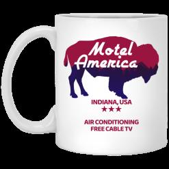 Motel America Indiana USA Air Conditioning Free Cable TV Mug
