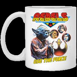 Star Wars Rebels Use The Force Yoda Luke Skywalker Chewbacca Han Solo Mug