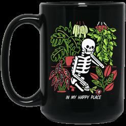 Skull Skeleton In My Happy Place Mug