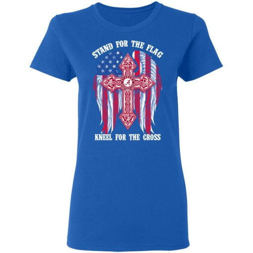 Alabama Crimson Tide Stand For The Flag Kneel For The Cross T-Shirts, Hoodies, Long Sleeve