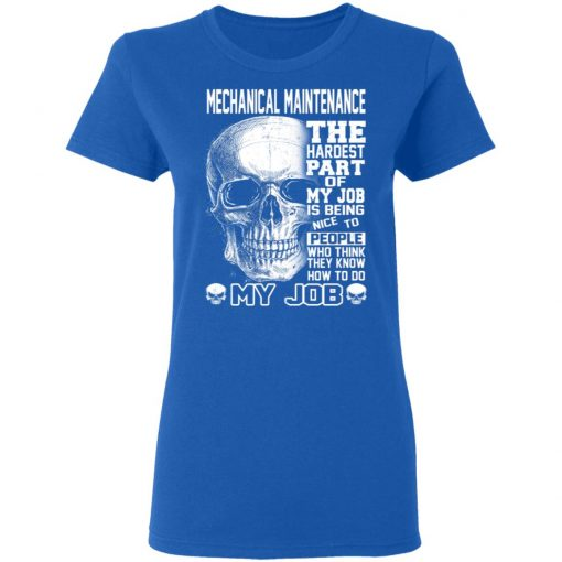 Mechanical Maintenance The Hardest Part Of My Job Is Being Nice To People T-Shirts, Hoodies, Long Sleeve