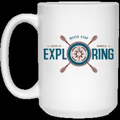 Joe Robinet Never Stop Exploring Mug
