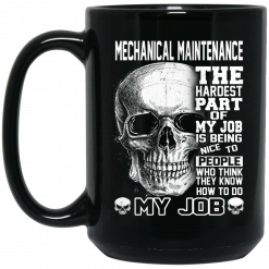 Mechanical Maintenance The Hardest Part Of My Job Is Being Nice To People Mug