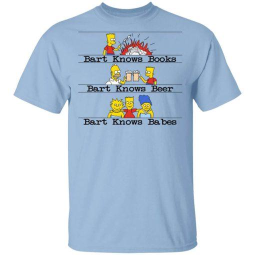 Bart Knows Books Bart Knows Beer Bart Knows Babes The Simpsons T-Shirts, Hoodies, Long Sleeve