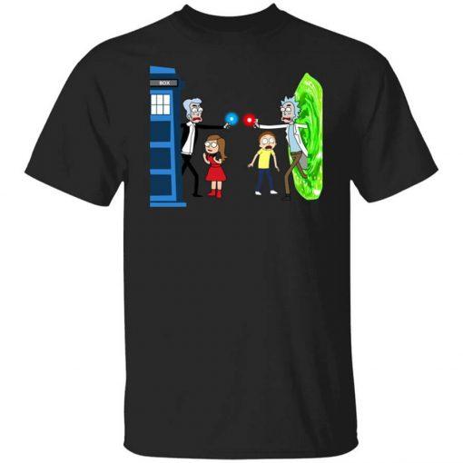 Doctor Who VS Rick And Morty Mashup T-Shirts, Hoodies, Long Sleeve