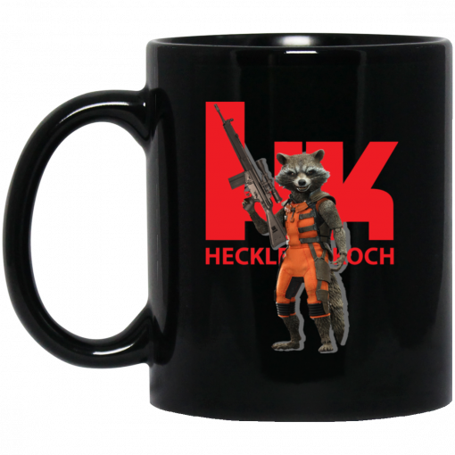 Rocket Raccoon HK Heckler and Koch Mug