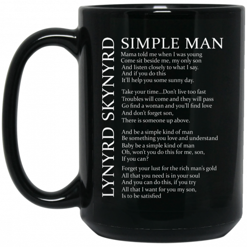 Lynyrd Skynyrd Simple Man Mug