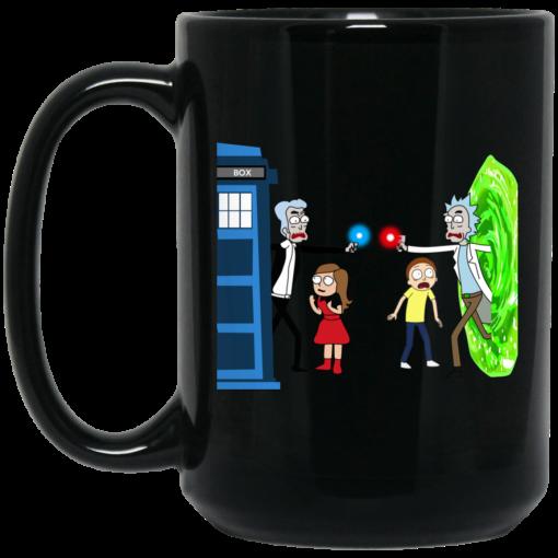 Doctor Who VS Rick And Morty Mashup Mug