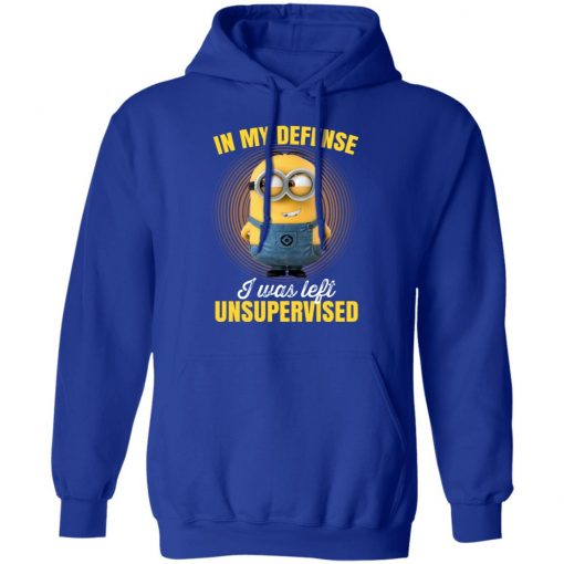In My Defense I Was Left Unsupervised – Minions T-Shirts, Hoodies, Long Sleeve