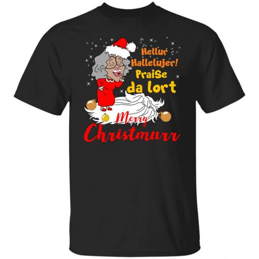 Hellur Hallelujer Praise Da Lort Merry Christmas T-Shirts, Hoodies, Long Sleeve