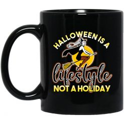 Womens Retro Ephemera Style Halloween Is A Lifestyle Not A Holiday Mug