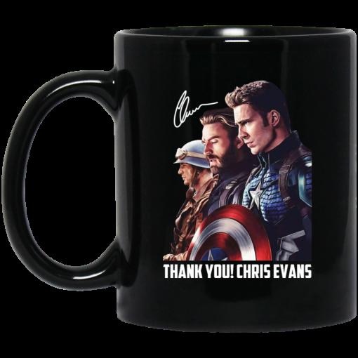 Captain America Thank You Chris Evans Signature Mug