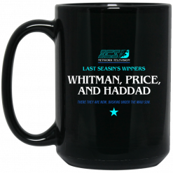 Running Man Whitman, Price, and Haddad Mug