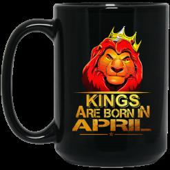 Lion King Are Born In April Mug