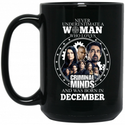Never Underestimate A Woman Who Loves Criminal Minds And Was Born In December Mug