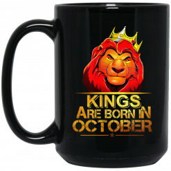 Lion King Are Born In October Mug
