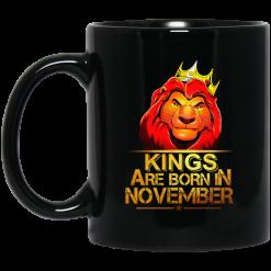 Lion King Are Born In November Mug